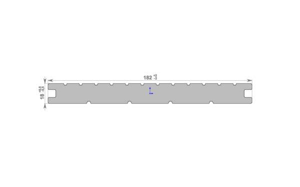 Террасная доска МАССИВ HolzDorf 182x18х2400 мм, Импрэс
