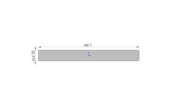 Декоративная планка HOLZDORF 100х10х3000 мм Браш