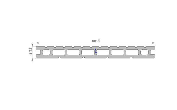 Террасная доска HOLZDORF 182x18х2400 мм, Браш
