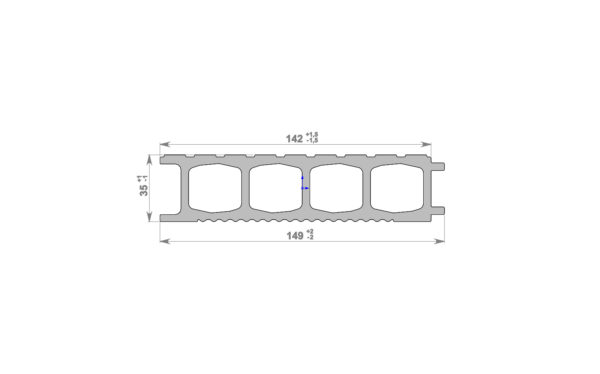 Террасная доска HOLZDORF 149х35х3000 мм, Импрэс