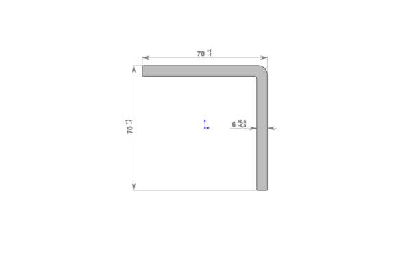 Уголок торцевой 70х70 мм Винтаж